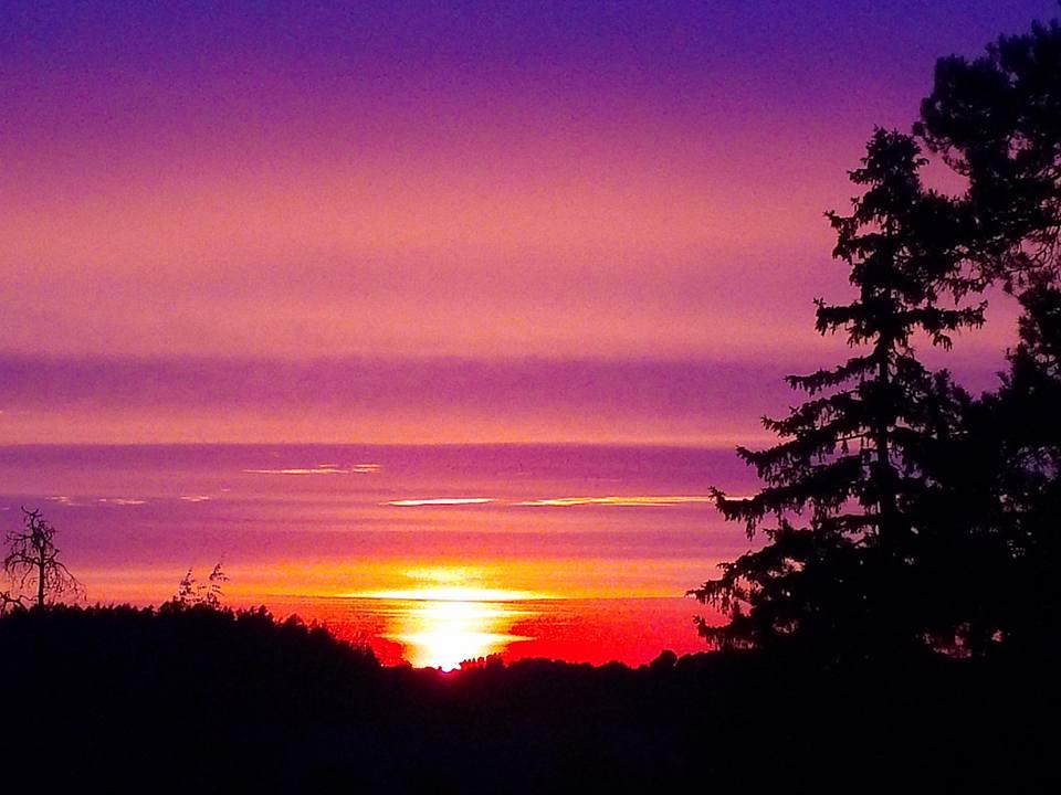핀랜드Beautiful Sunset from the top of the Hill A11.jpg