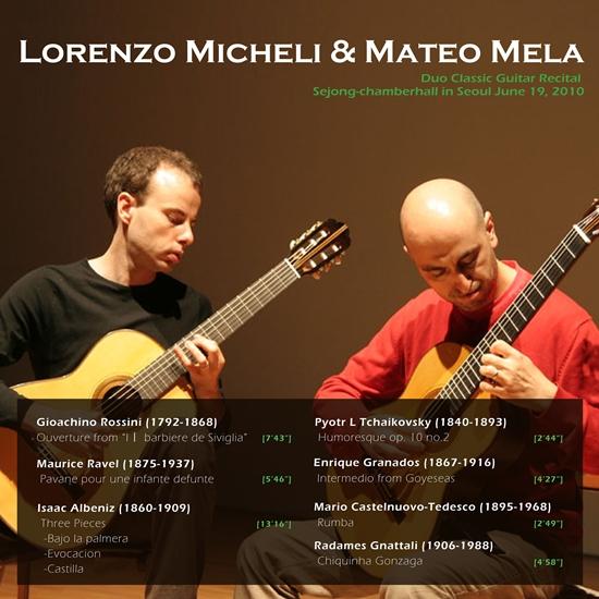 [뮤시아]Rorenzo Micheli & Matteo Mela Duo Classic Guitar Recital_앨범커버.jpg